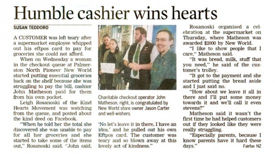Humble Cashier Wins Hearts