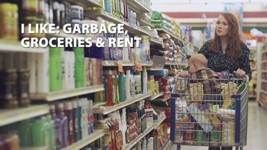 I LIKE: GARBAGE, GROCERIES & RENT.